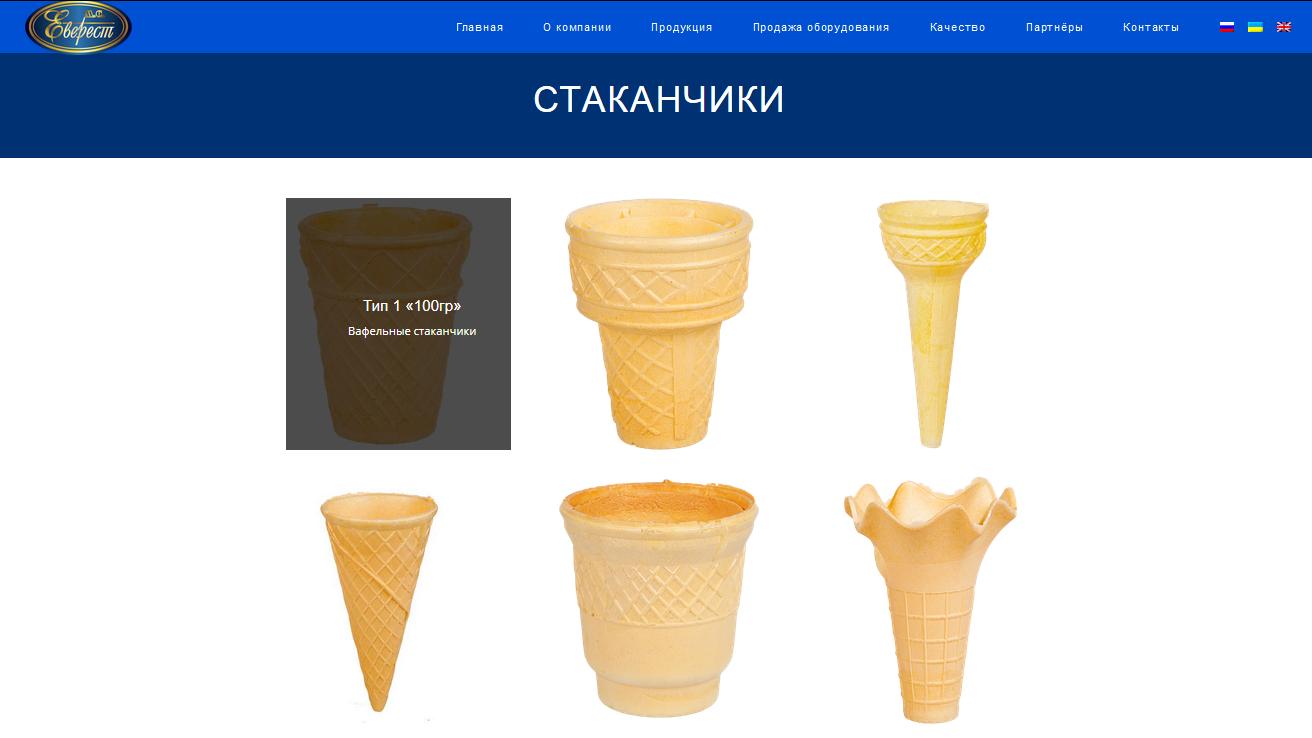 Вафельный стаканчик для мороженого