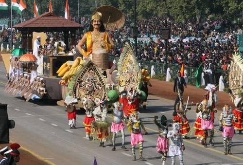 В столице Индии Нью-Дели проходят завершающие репетиции праздничного парада. Фото: RAVEENDRAN/AFP/Getty Images
