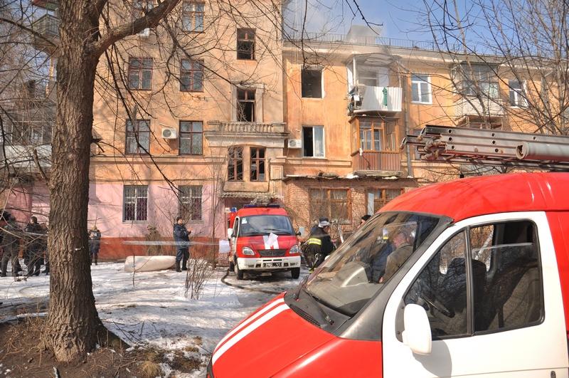 В Днепропетровске произошёл взрыв в жилом доме. Фото: mns.gov.ua