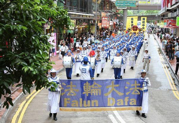 12 июля 2008г. Гонконг. Колона Небесного оркестра. Фото: Ли Мин/ The Epoch Times