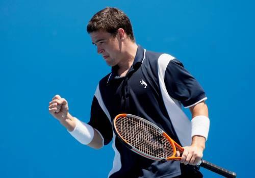 Джеймі Бейкер (Великобританія) (Jamie Baker of Great Britain) під час відкритого чемпіонату Австралії з тенісу. Фото: Quinn Rooney/Getty Images