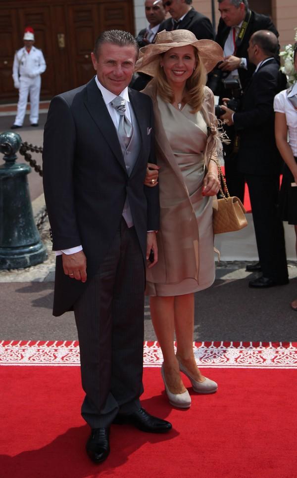 Сергей Бубка с супругой Лилией Тютюник на свадьбе князя Монако ІІ и Шарлин Уиттсток. Фото: Dan Kitwood/Getty Images