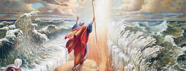 Мойсей змусив води моря розступитися. Фото з сайту salat.zahav.ru