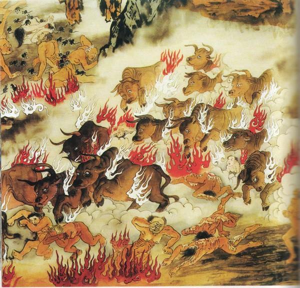 Огненные быки нападают на тех, кто при жизни разводил животных для убоя и продажи.