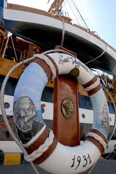 Військовий італійський вітрильник Amerigo Vespucci прибув до Одеси. Фото: Володимир Бородін / The Epoch Times