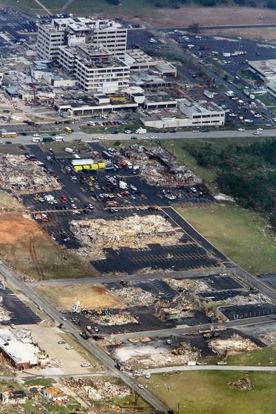 Разрушенный торнадо Джоплин, штат Миссури. Фото: Benjamin Krain/Getty Images