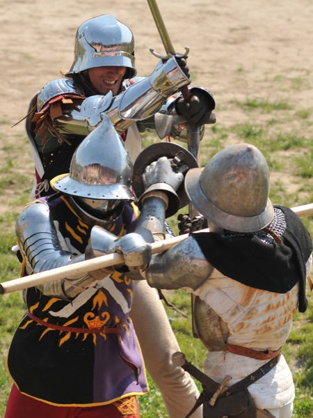 Битва Миле на историческом фестивале в Парке Киевская Русь 18 июня 2011 года. Фото: Владимир Бородин/The Epoch Times Украина