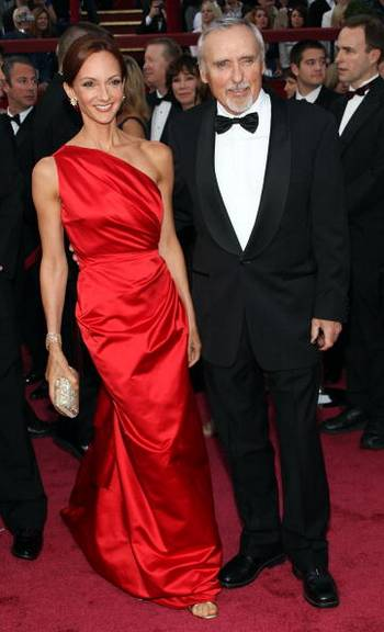 Виктори Даффи (Victoria Duffy) и актер Деннис Хоппер (Dennis Hopper) посетили церемонию вручения Премии 'Оскар' в Голливуде Фото: Frederick M. Brown/Getty Images