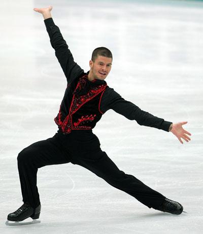 Стефан Ламбьєль (команда Європи) виконує довільну програму. Фото: Koichi Kamoshida/Getty Images