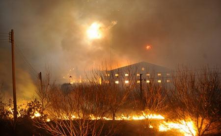 В г.Фошань провинции Гуандун взорвалось 20 складов с пиротехникой. Фото с epochtimes.com