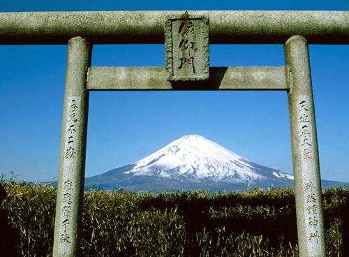 Горы Фудзияма в Японии.