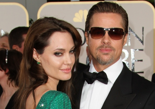 Брэд Питт и Анджелина Джоли на 68-й ежегодной церемонии вручения премии «Золотой глобус», 16 января 2011 года. Фото: VALERIE MACON/AFP/Getty Images