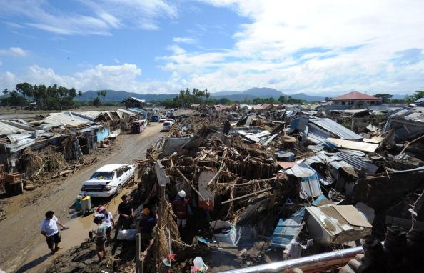 В результате шторма на Филиппинах погибли более 650 человек. Фото: TED ALJIBE/AFP/Getty Images