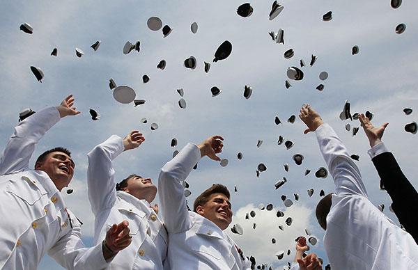 Выпускная церемония в Академии ВМС США. Фото: Mark Wilson/Getty Images