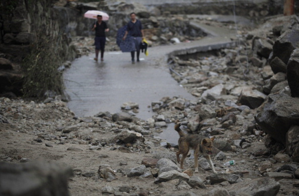 Оползни привели к серьезным разрушениям в провинции Хунань, Китай. Фото: STR/AFP/Getty Images