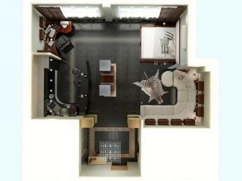 Дві основні зони у квартирі-студії.Фото:alterego.od.ua