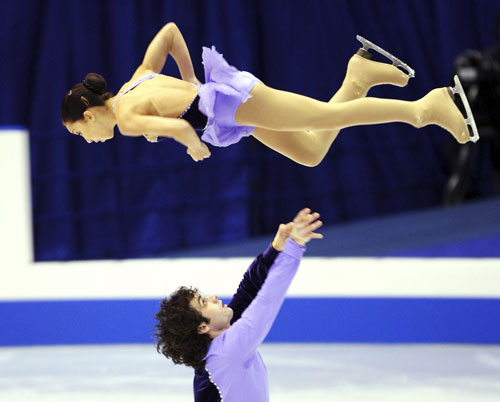 Киуна Маклаулин и Рокни Брубейкер (США) исполняют короткую программу. Фото: Junko Kimura/Getty Images