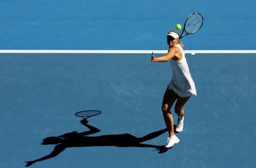 Марія Шарапова (Росія) (Maria Sharapova of Russia) під час відкритого чемпіонату Австралії з тенісу. Фото: Ezra Shaw/Getty Images