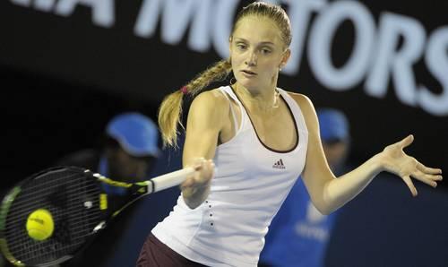 Ганна Чакветадзе (Росія) (Anna Chakvetadze of Russia) під час Відкритого чемпіонату Австралії з тенісу в Мельбурні. Фото: PAUL CROCK/AFP/Getty Images