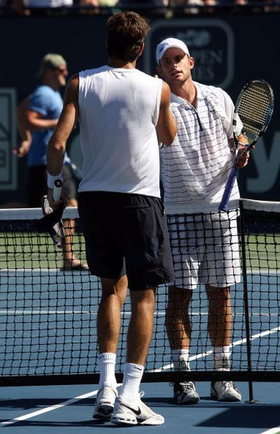 Энди Роддик и Хуан Мартин дель Потро в финальном матче АТР-тура. Фото: Getty Images