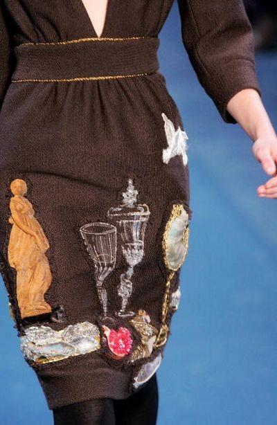 Женская коллекция от Ив Сен Лоран. Фото:AFP/Getty Images