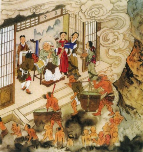 Десятий рівень пекла, їм керує Чжуан Лун Ван (цар перероджень). Альтанка тіточки Мен. Ті, що повинні переродитися у світі людей, приходять сюди, щоб випити напій забуття, після чого вони перероджуються, не пам'ятаючи нічого. Фото надане Цзяном Іцзи