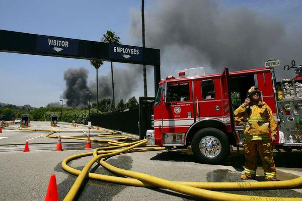Пожежа на студії Universal. Фото: David McNew/Getty Images