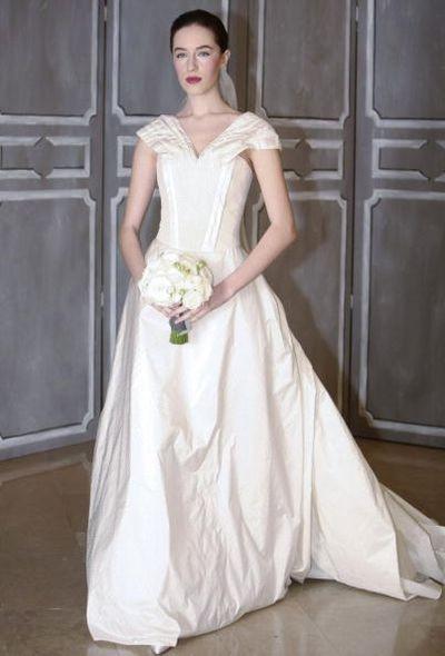 Показ коллекции свадебных платьев ' Carolina Herrera ' от американского дизайнера Каролины Эррера (Carolina Herrera). Фото: Getty Images
