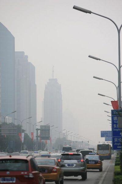 Смог у Пекіні за 11 днів до Олімпіади. 28 липня. Фото: Andrew Wong/Getty Images
