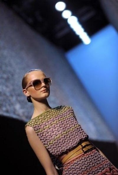 Женская одежда от Dolce&Gabbana на неделе моды в Милане 22 сентября 2008г. Фото: FILIPPO MONTEFORTE/AFP/Getty Images