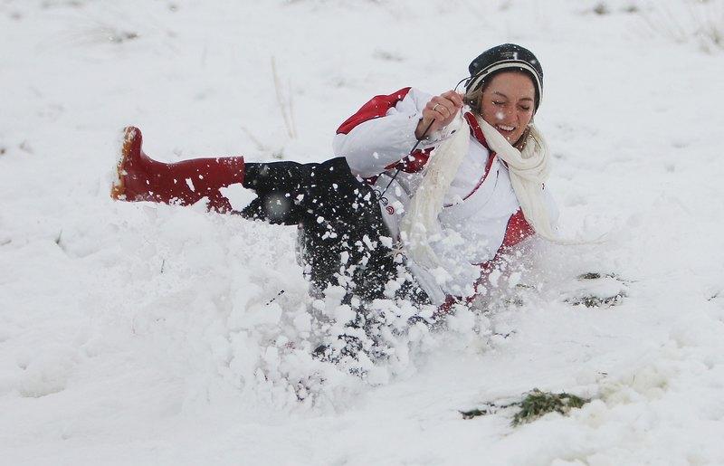 Новую Зеландию засыпало снегом. Фото: Hagen Hopkins/Getty Images