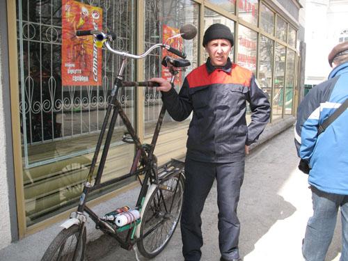 Двухэтажный велосипед. Фото: zhitomir.info