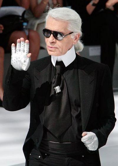 Головний кутюр'є Лагерфельд (Karl Lagerfeld). Фото: AFP