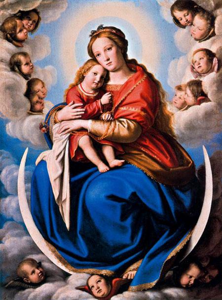 Сассоферрато. Мадонна з Немовлям. Картинна галерея Ватикану. Зображення: Ciudad de la Pintura