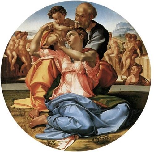 Мікеланджело Святе сімейство