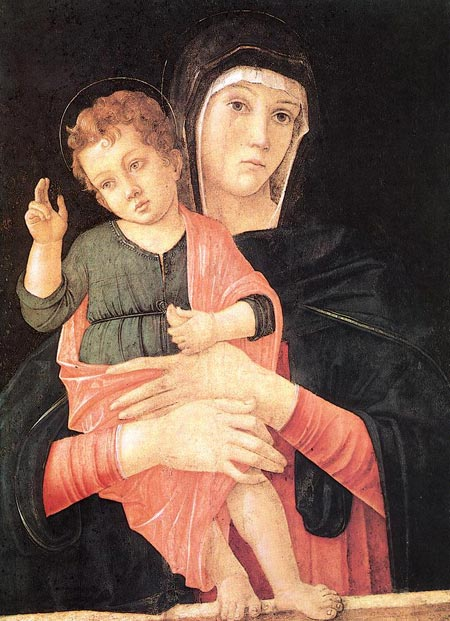 Джованни Беллини. Мадонна с благословляющим Младенцем. Галерея Академии, Венеция, Италия