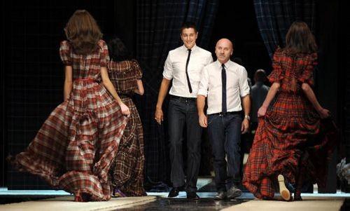 Дизайнеры Доменико Дольче и Стефано Габбана (Domenico Dolce and Stefano Gabbana) Фото: GIUSEPPE CACACE/AFP/Getty Images