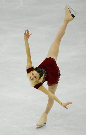 Довільна програма на Олімпійських іграх в Туріні (Італія) в 2006 р. Вона виграла «срібло». Фото: Al Bello/Getty Images