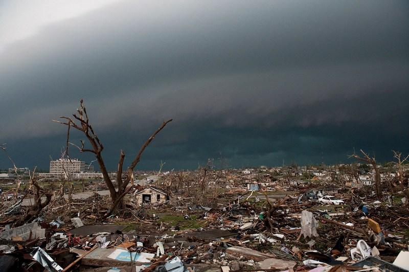 Разрушенный торнадо Джоплин, штат Миссури. Фото: Julie Denesha/Getty Images
