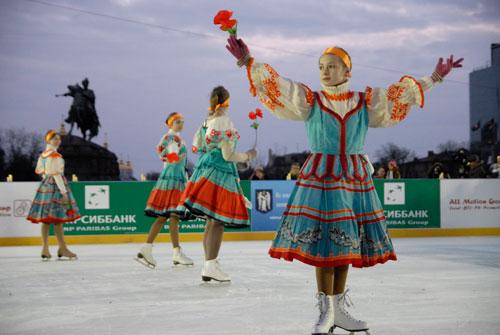 Відкриття безкоштовної ковзанки в Києві. Фото: Велика Епоха