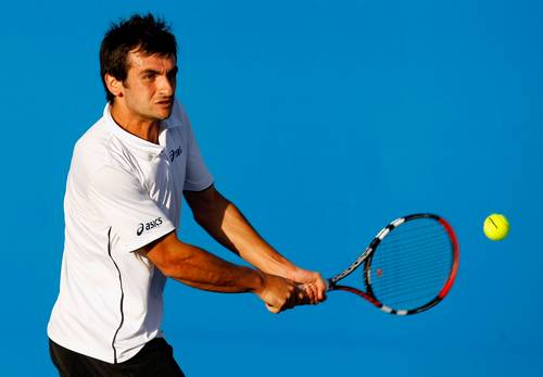 Серра Флоран (Франція) (Florent Serra of France) під час відкритого чемпіонату Австралії з тенісу. Фото: Lucas Dawson/Getty Images