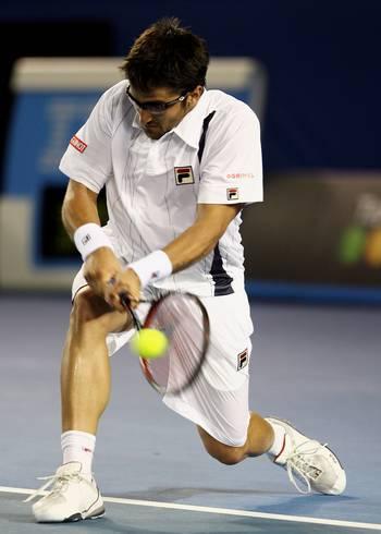 Янко Тіпсаревіч (Сербія) (Serbian tennis player Janko Tipsarevic) під час Відкритого чемпіонату Австралії з тенісу в Мельбурні. Фото: Clive Brunskill/Getty Images