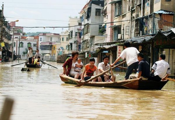 Наводнение в г.Чжанчжоу провинции Фуцзянь. Фото: AFP
