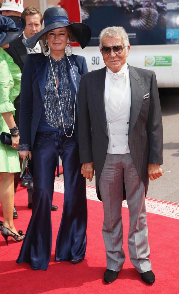 Роберто и Ева Кавалли на свадьбе князя Монако ІІ и Шарлин Уиттсток. Фото: Dan Kitwood/Getty Images
