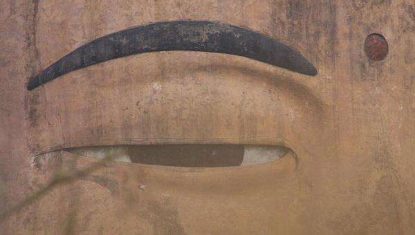 Самый большой Будда в мире: Глаз Будды. Фото: ironromeo/Livejournal.com