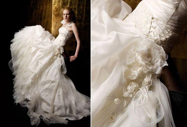 Коллекция свадебных платьев с цветами fabio gritti/Фото с efu.com.cn