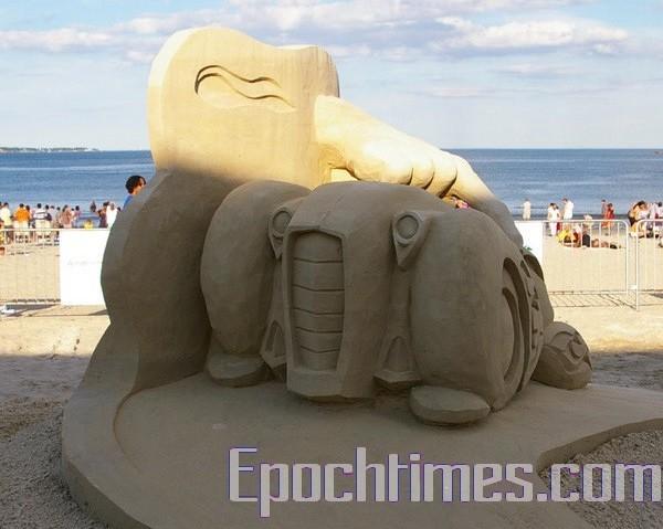 Фестиваль піщаних скульптур у Новій Англі. Фото: The Epoch Times