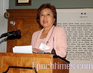 Вице-президент тайваньского фонда за демократию Ян Хуан Мейсин. Сю Мин/Великая Эпоха