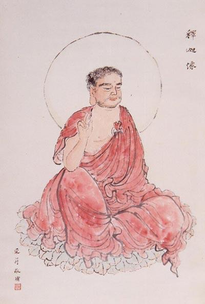 Традиційний живопис Китаю. Будда Шак'ямуні. Чжан Цуйїн
