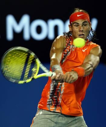 Рафаель Надаль (Іспанія) (Rafael Nadal of Spain) під час відкритого чемпіонату Австралії з тенісу. Фото: Mark Dadswell/Getty Images